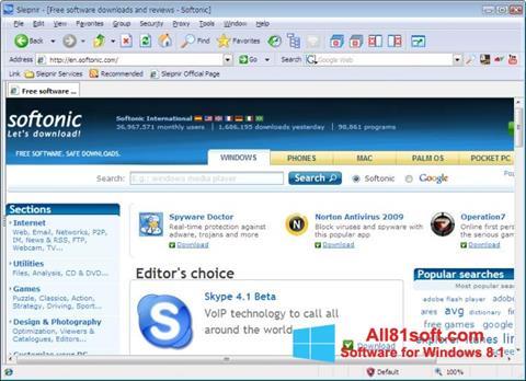 Snimak zaslona Sleipnir Windows 8.1