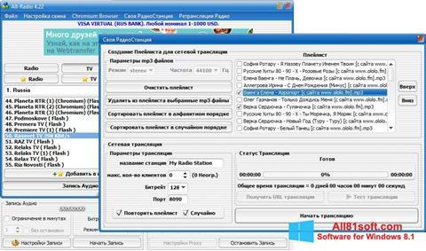 Snimak zaslona All-Radio Windows 8.1