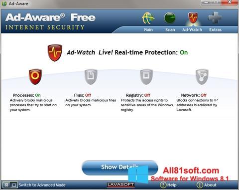 Snimak zaslona Ad-Aware Windows 8.1