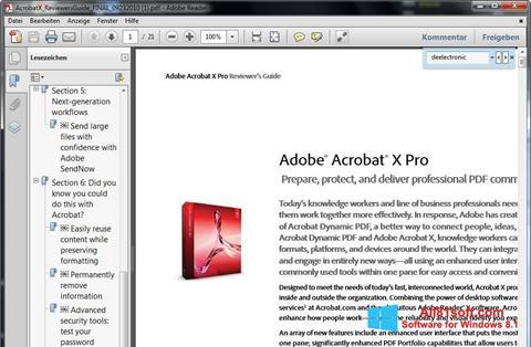 Snimak zaslona Adobe Reader Windows 8.1