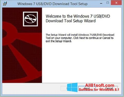 Snimak zaslona Windows 7 USB DVD Download Tool Windows 8.1