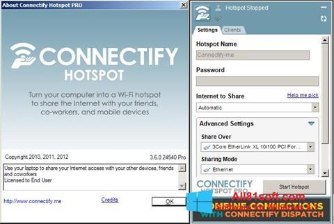 Snimak zaslona Connectify Windows 8.1