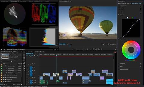 Snimak zaslona Adobe Premiere Pro Windows 8.1