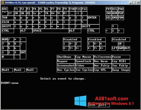 Snimak zaslona DOSBox Windows 8.1
