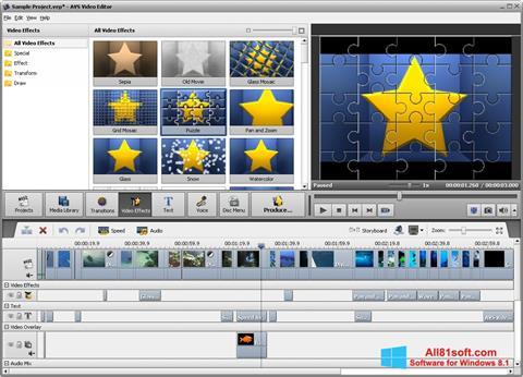 Snimak zaslona AVS Video Editor Windows 8.1
