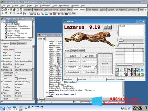 Snimak zaslona Lazarus Windows 8.1