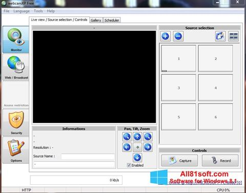 Snimak zaslona webcamXP Windows 8.1