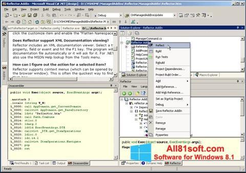 Snimak zaslona Reflector Windows 8.1