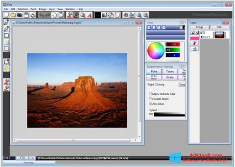 Snimak zaslona Pixia Windows 8.1