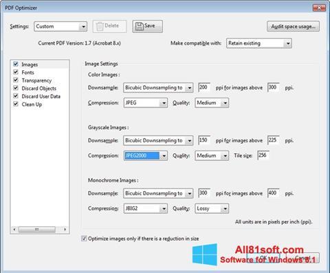 Snimak zaslona Adobe Acrobat Pro DC Windows 8.1