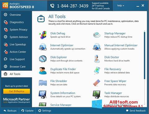 Snimak zaslona Auslogics BoostSpeed Windows 8.1