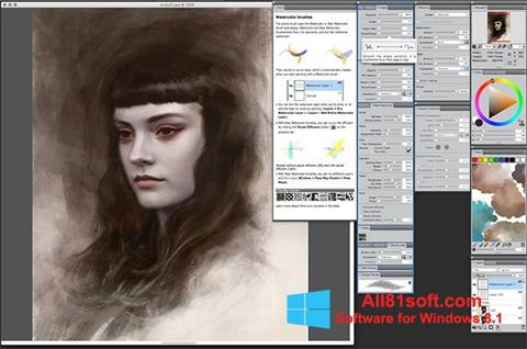 Snimak zaslona Corel Painter Windows 8.1