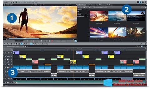 Snimak zaslona MAGIX Movie Edit Pro Windows 8.1