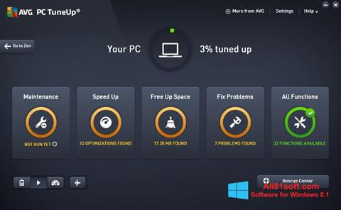 Snimak zaslona AVG PC Tuneup Windows 8.1
