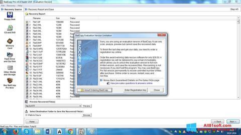 Snimak zaslona BadCopy Pro Windows 8.1