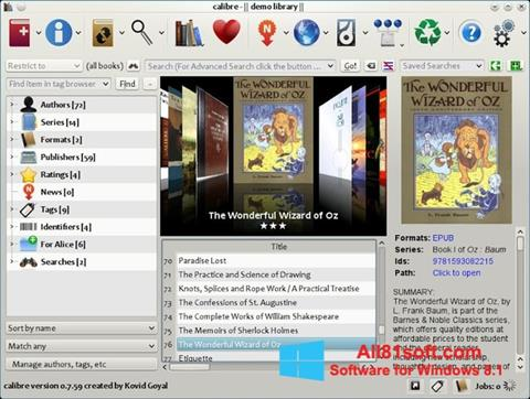 Snimak zaslona Calibre Windows 8.1