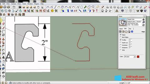 Snimak zaslona SketchUp Windows 8.1
