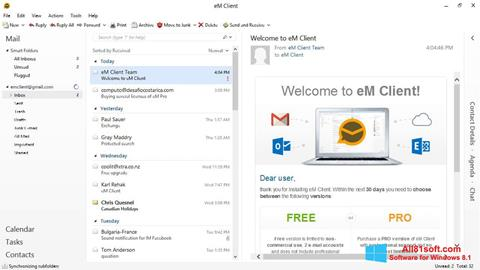 Snimak zaslona eM Client Windows 8.1