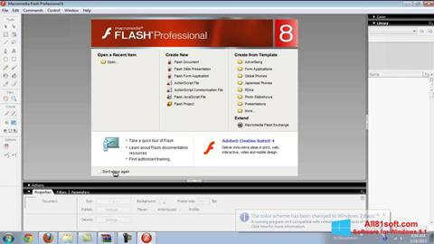 Snimak zaslona Macromedia Flash Player Windows 8.1