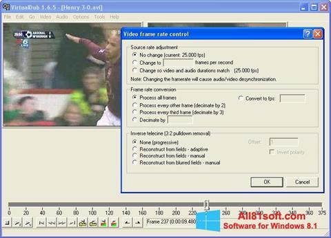 Snimak zaslona VirtualDubMod Windows 8.1
