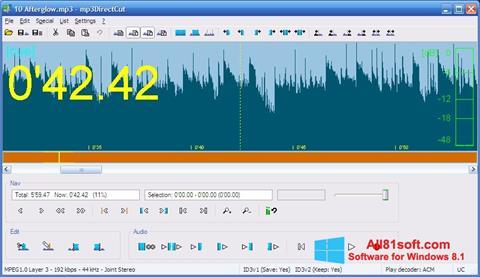 Snimak zaslona mp3DirectCut Windows 8.1