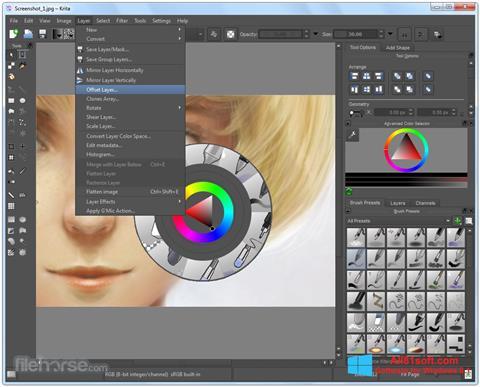 Snimak zaslona Krita Windows 8.1