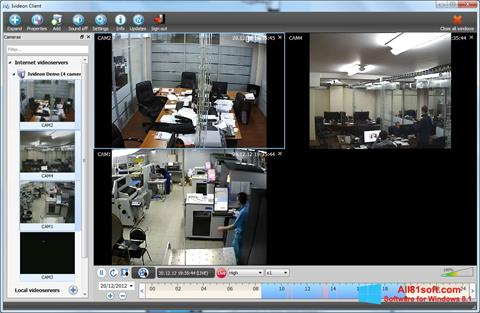 Snimak zaslona Ivideon Server Windows 8.1