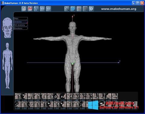 Snimak zaslona MakeHuman Windows 8.1