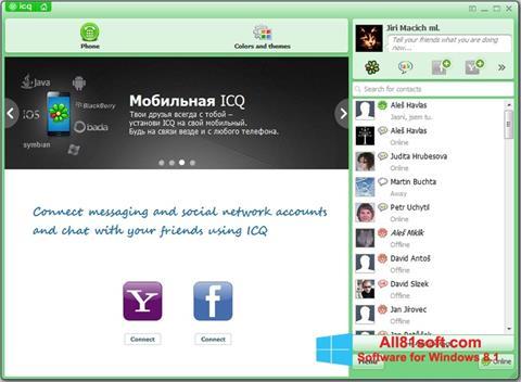 Snimak zaslona ICQ Windows 8.1