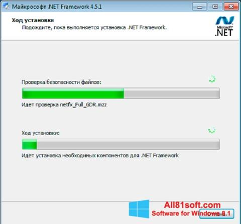 Snimak zaslona Microsoft .NET Framework Windows 8.1