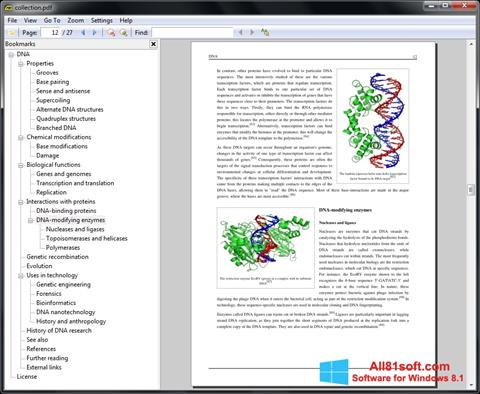 Snimak zaslona Sumatra PDF Windows 8.1