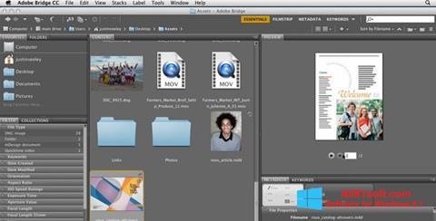 Snimak zaslona Adobe Bridge Windows 8.1