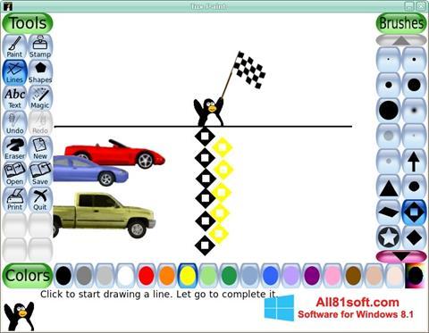 Snimak zaslona Tux Paint Windows 8.1
