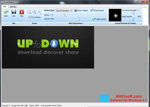 Snimak zaslona SmartDeblur Windows 8.1