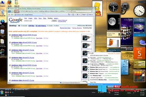 Snimak zaslona Google Desktop Windows 8.1