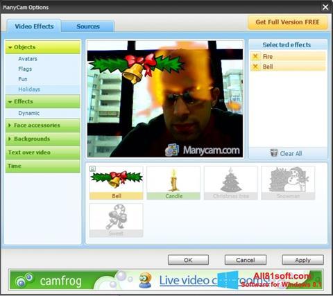 Snimak zaslona ManyCam Windows 8.1
