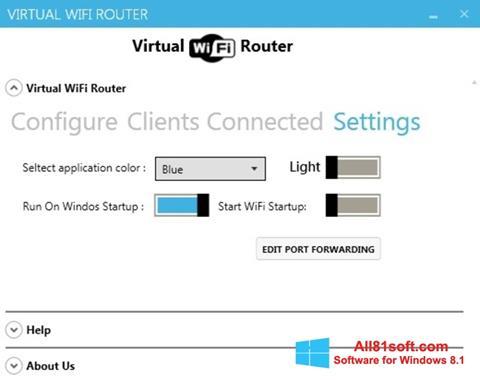 Snimak zaslona Virtual WiFi Router Windows 8.1