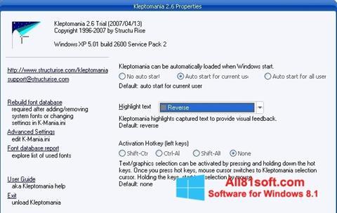 Snimak zaslona Kleptomania Windows 8.1