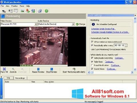 Snimak zaslona WebCam Monitor Windows 8.1