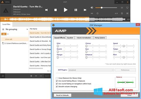 Snimak zaslona AIMP Windows 8.1