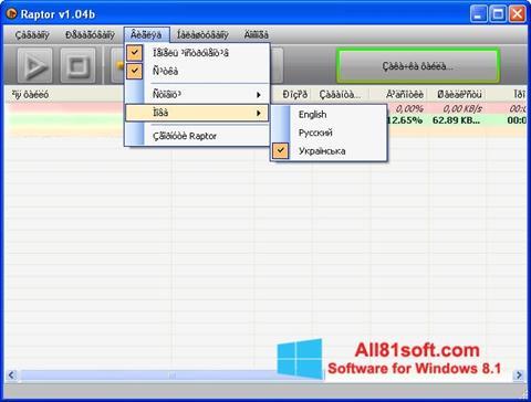 Snimak zaslona Raptor Windows 8.1