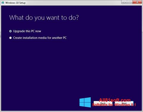 Snimak zaslona Media Creation Tool Windows 8.1