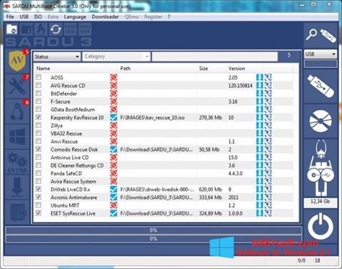 Snimak zaslona SARDU Windows 8.1