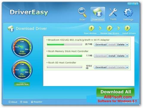 Snimak zaslona Driver Easy Windows 8.1