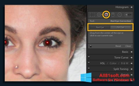 Snimak zaslona Red Eye Remover Windows 8.1
