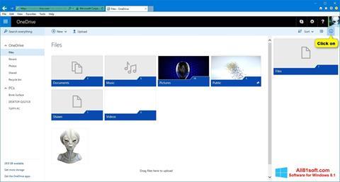 Snimak zaslona OneDrive Windows 8.1