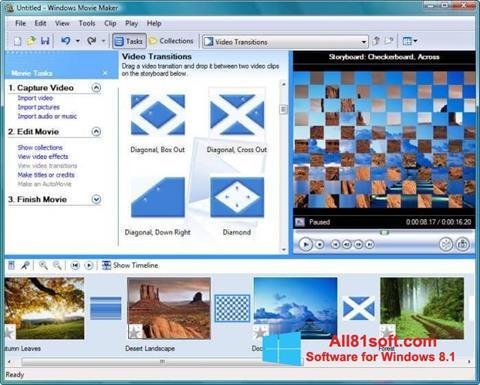 Snimak zaslona Windows Movie Maker Windows 8.1