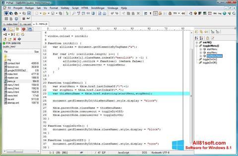 Snimak zaslona PSPad Windows 8.1