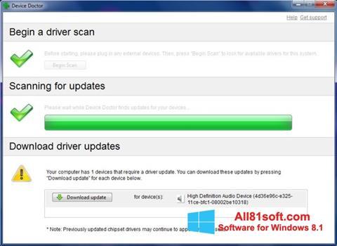 Snimak zaslona Device Doctor Windows 8.1
