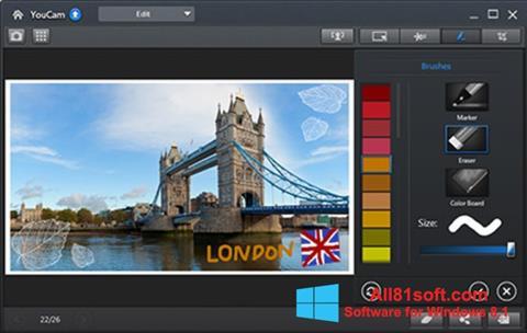 Snimak zaslona CyberLink YouCam Windows 8.1